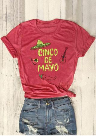 Cinco De Mayo Hat T-Shirt Tee