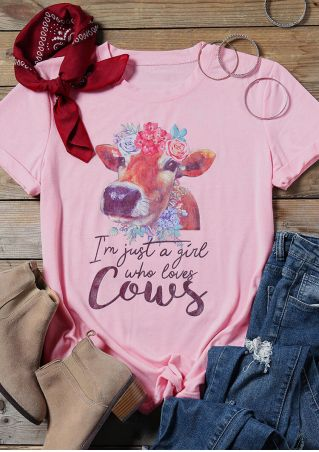Just A Girl Who Loves Cows T-Shirt Tee