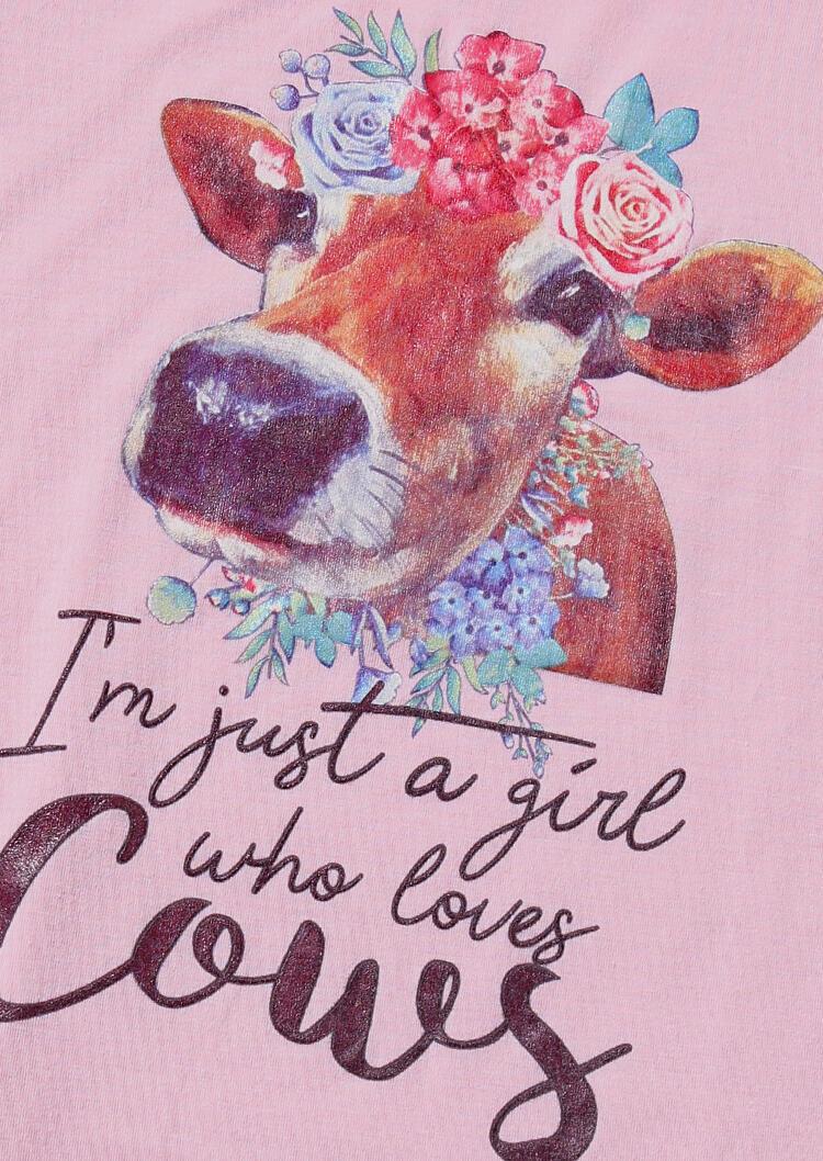 Just A Girl Who Loves Cows T Shirt Tee Fairyseason