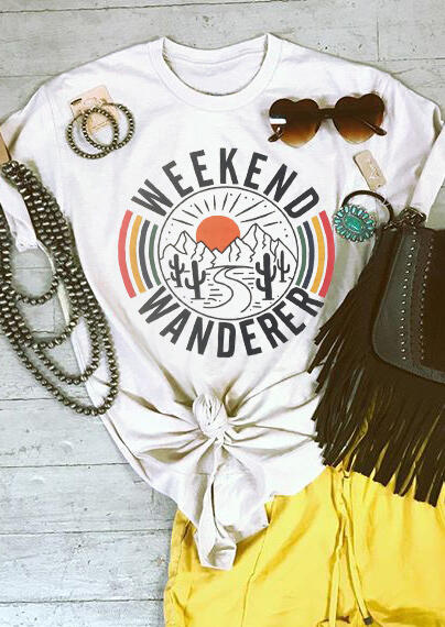 Weekend Wanderer Cactus T-Shirt Tee