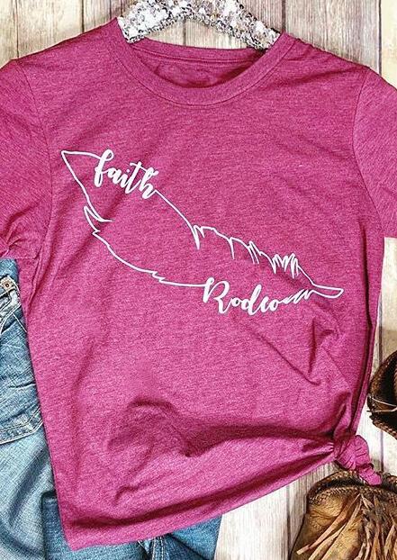 Faith Rodeo O-Neck T-Shirt Tee