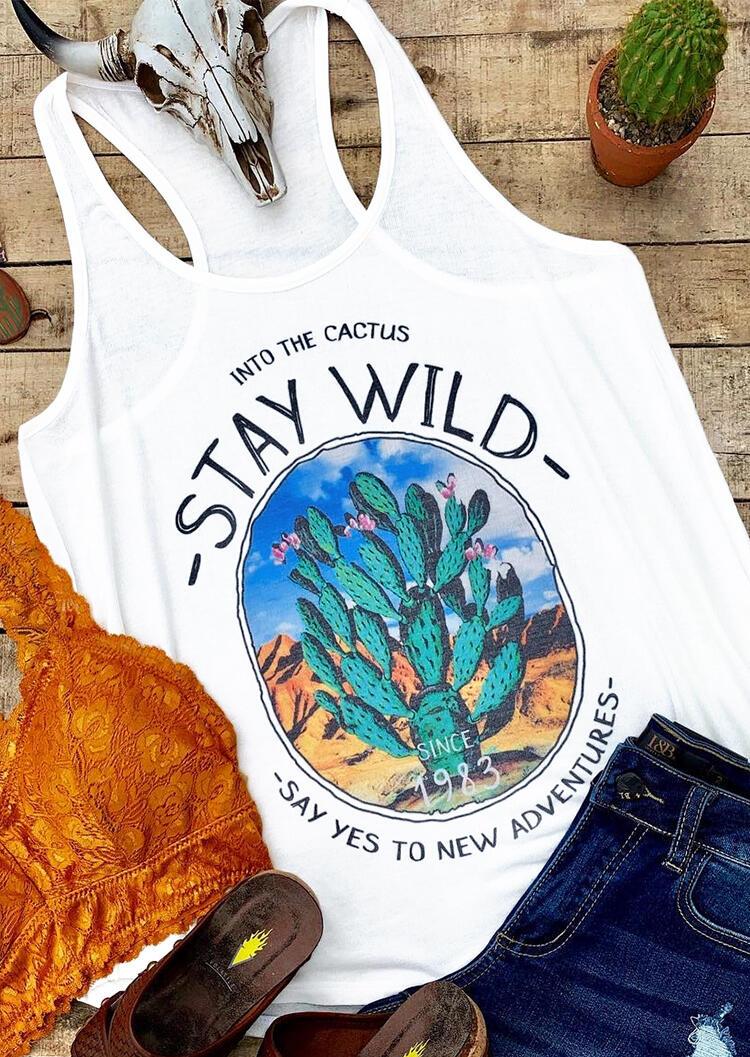 Stay Wild Cactus Tank