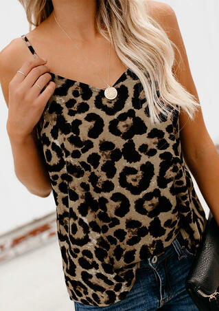 Leopard Printed Camisole without Necklace