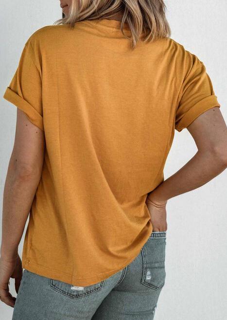 Johnny Cash O Neck T Shirt Tee Yellow Fairyseason