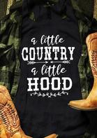 A Little Country A Little Hood Tank - Black