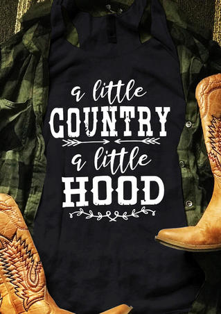 A Little Country A Little Hood Tank - Black