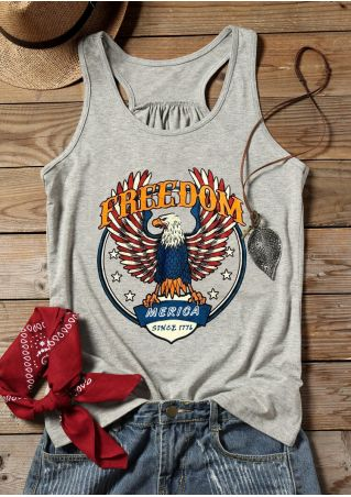 Freedom Merica Since 1776 Tank - Gray