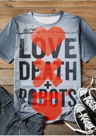 Love Death Robots T-Shirt Tee -Multicolor
