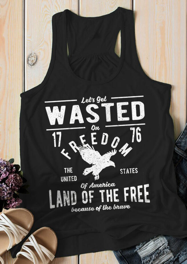 Let's Get Wasted On Freedom Tank – Black