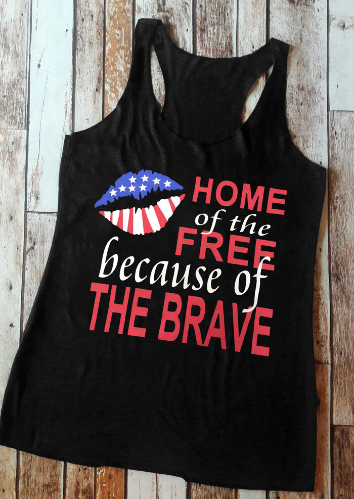 Home Of The Free Because Of The Brave Tank – Black