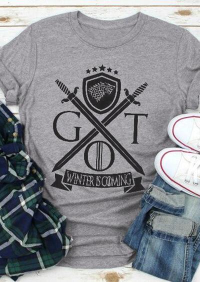 Got Winter Is Coming T-Shirt Tee – Gray