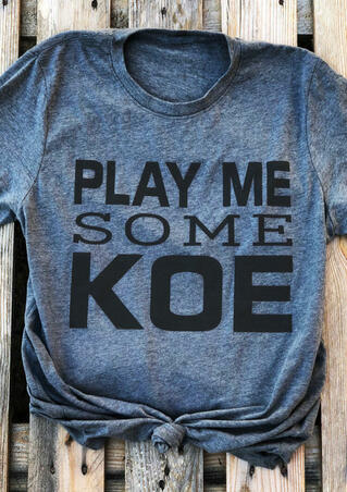 Play Me Some Koe T-Shirt Tee - Blue