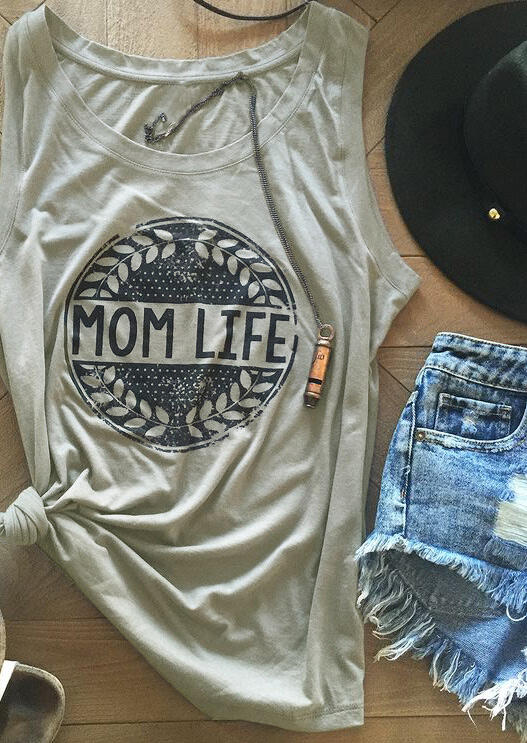 Tank Tops Mom Life Olive Branch Tank in Burgundy. Size: M,XL,2XL фото
