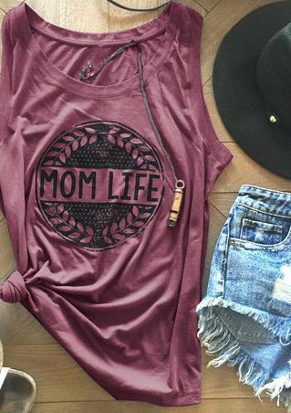 Mom Life Olive Branches Sleeveless Tank