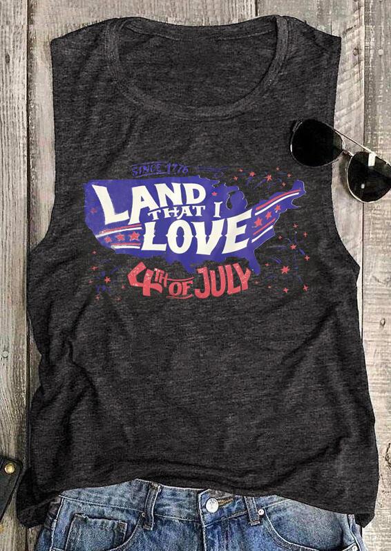 Land That I Love Tank – Gray