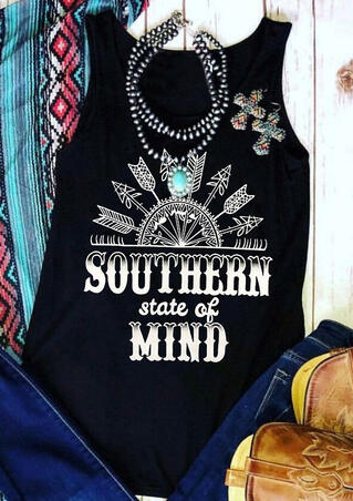 Southern State Of Mind Arrow Tank - Black