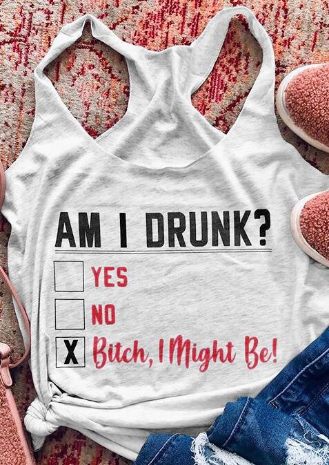 Am I Drunk Tank - Light Grey фото