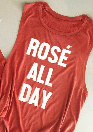 Rose All Day Tank -  Brick Red