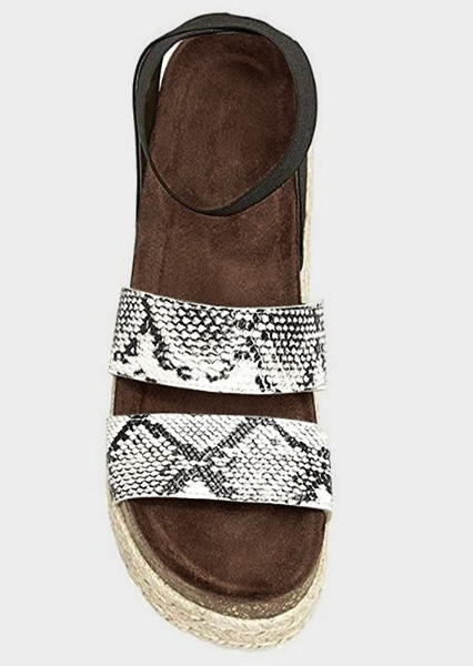 FairySeason / Snake Skin Printed Platform Sandals - Multicolor