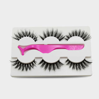 3Pcs/Set Makeup 5D Natural Long False Eyelashes