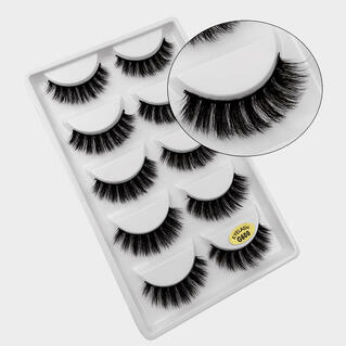 5Pcs/Set Makeup 3D Natural Long False Eyelashes