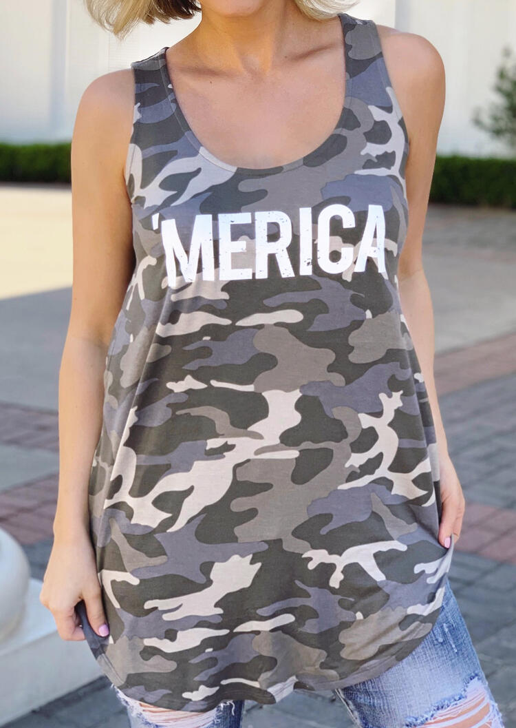 'Merica Camouflage Printed Tank - Camouflage thumbnail