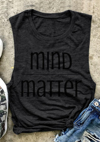 Mind Matter O-Neck Tank - Dark Grey