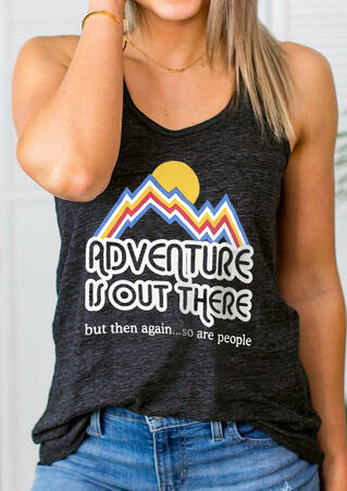Adventure Is Out There Tank - Dark Grey