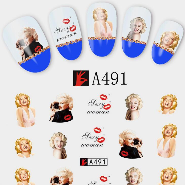 Marilyn Monroe Nail Sticker