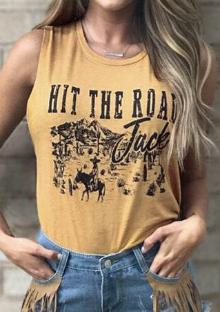 Hit The Road Jack Tank without Necklace - Yellow