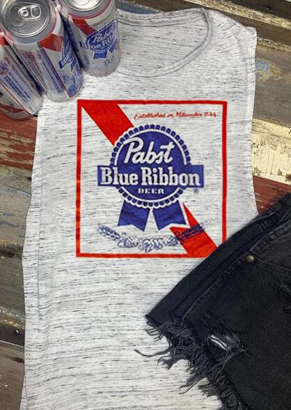 Pabst Blue Ribbon Beer Tank – Light Grey