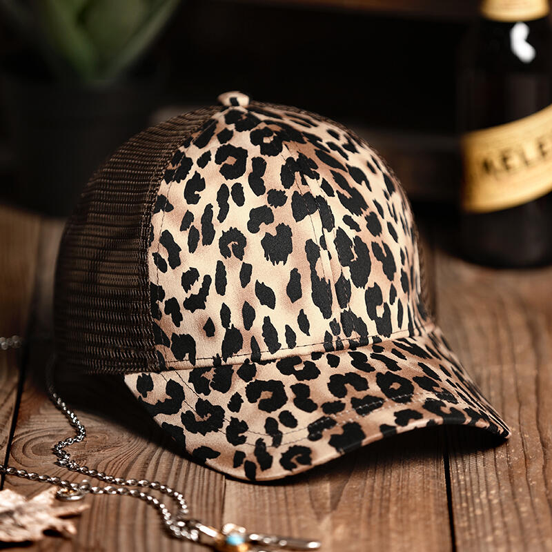 Hats Leopard Printed Mesh Baseball Cap in Leopard. Size: One Size фото