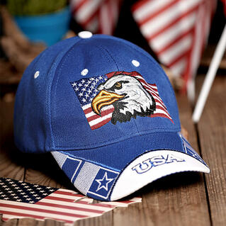 Eagle American Flag Baseball Hat
