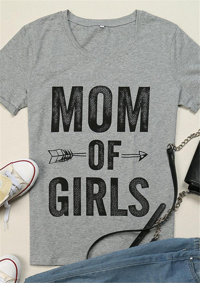 Mom of Girls Arrow Short Sleeve T-Shirt