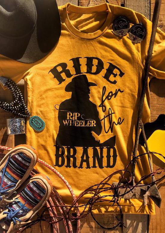 Ride Brand O-Neck T-Shirt Tee – Yellow