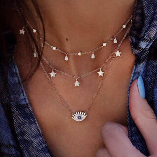 Eye Star Layered Necklace
