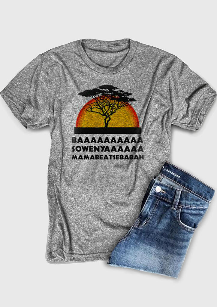 Basowenya Lion King T-Shirt Tee - Gray