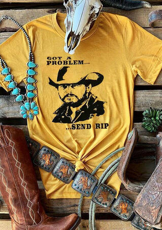 Yellowstone Got A Problem T-Shirt Tee - Yellow