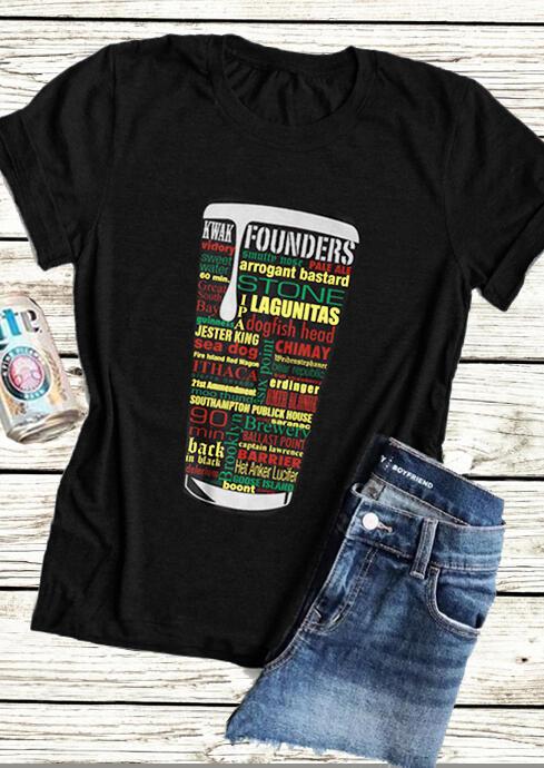 Kwak Founders Beer T-Shirt Tee – Black