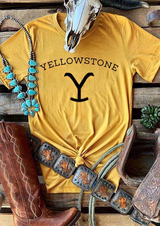 Yellowstone T-Shirt Tee – Yellow