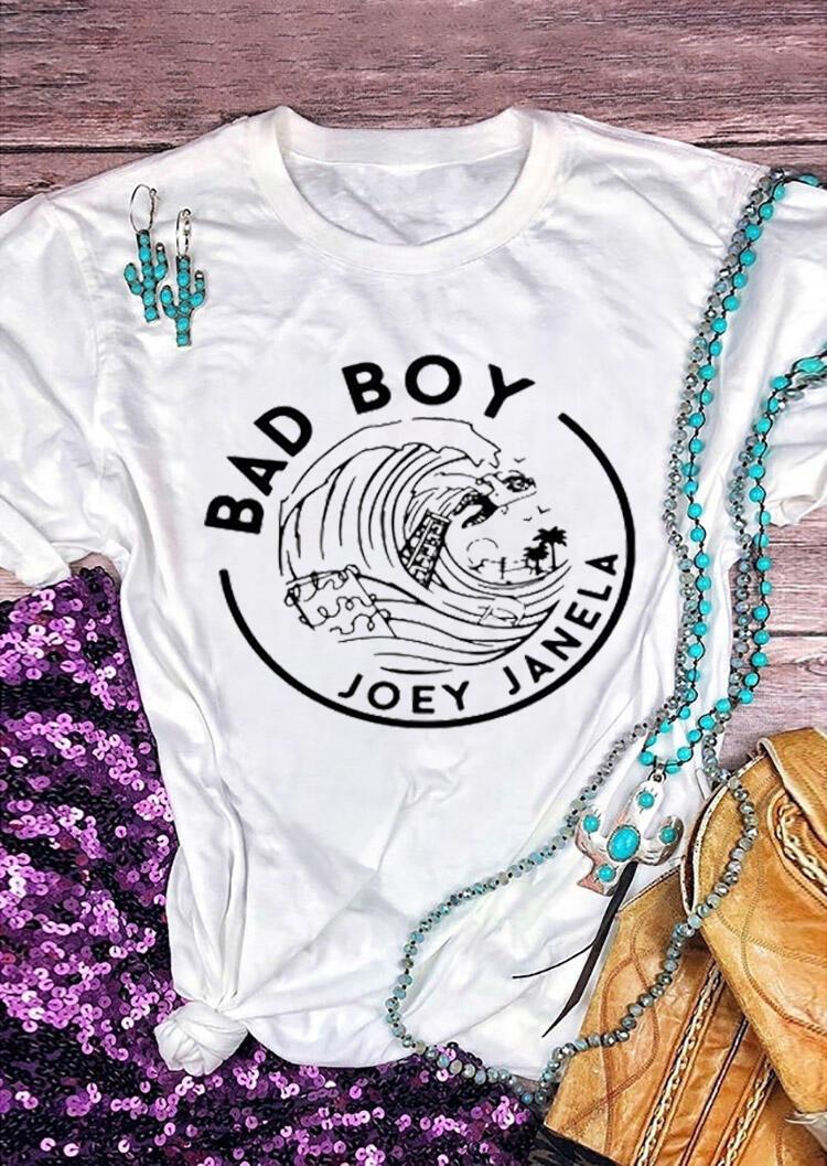 Tees T-shirts Bad Boy Joey Janela T-Shirt Tee - Blanc. Taille: S,M,L,XL