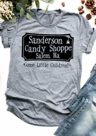 Sanderson Candy Shoppe T-Shirt Tee - Gray