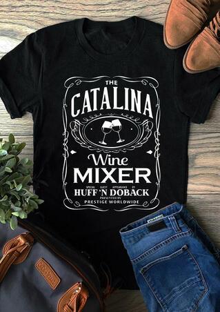 Catalina Wine Mixer T-Shirt Tee - Black