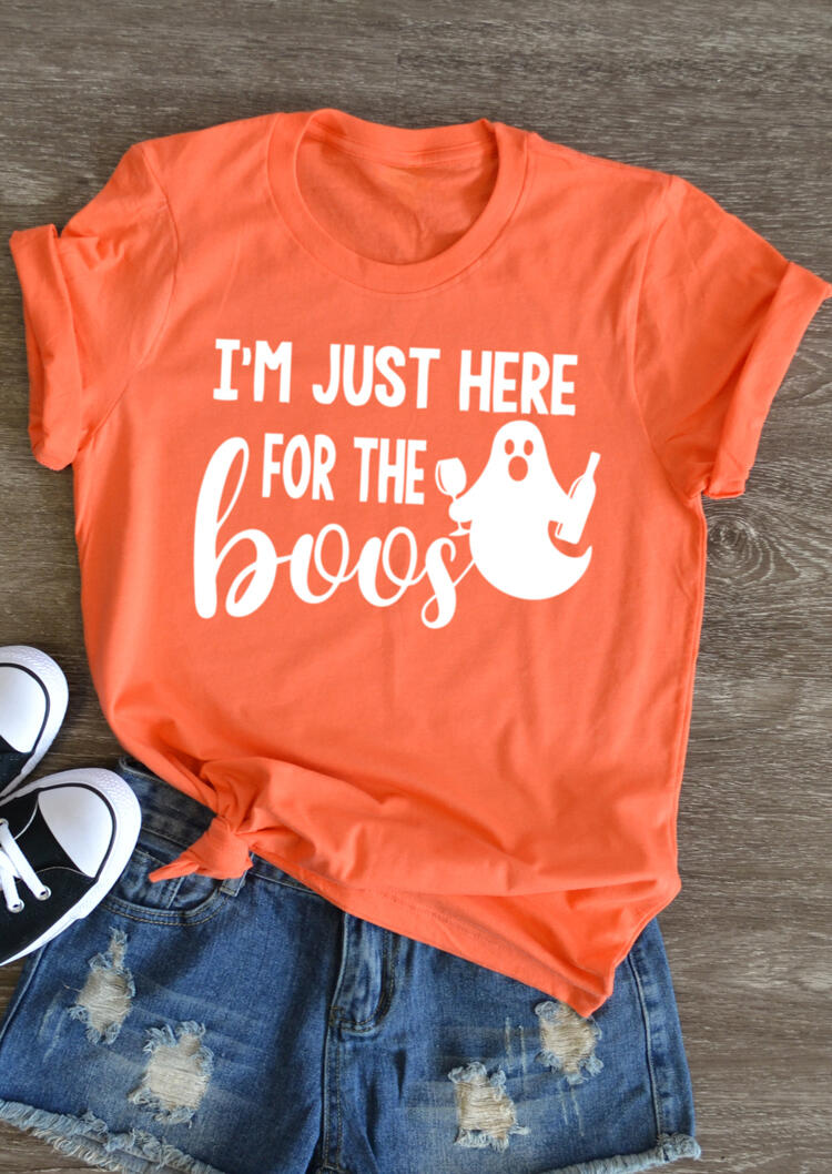 I'm Just Here For The Boos T-Shirt Tee – Orange