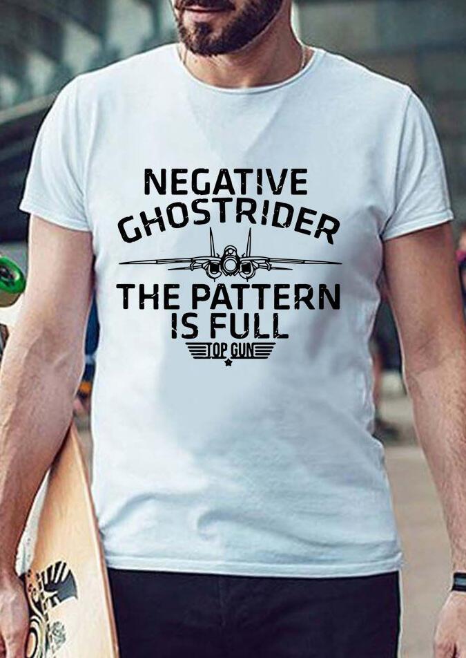 Men's Negative Ghost Rider T-Shirt Tee – White
