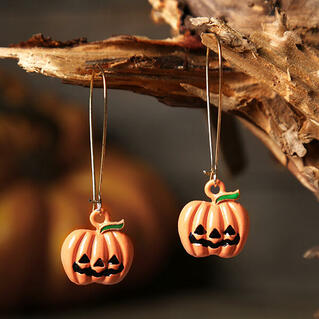 Halloween Pumpkin Pendant Earrings