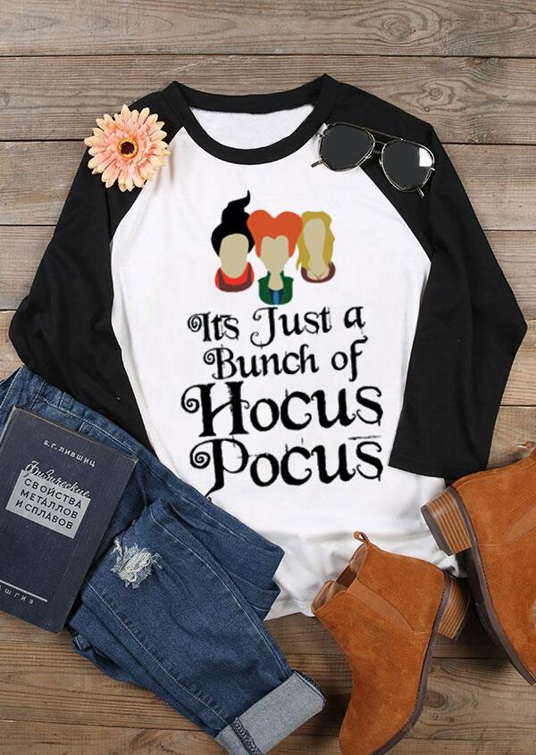 Halloween Hocus Pocus O-Neck Baseball T-Shirt