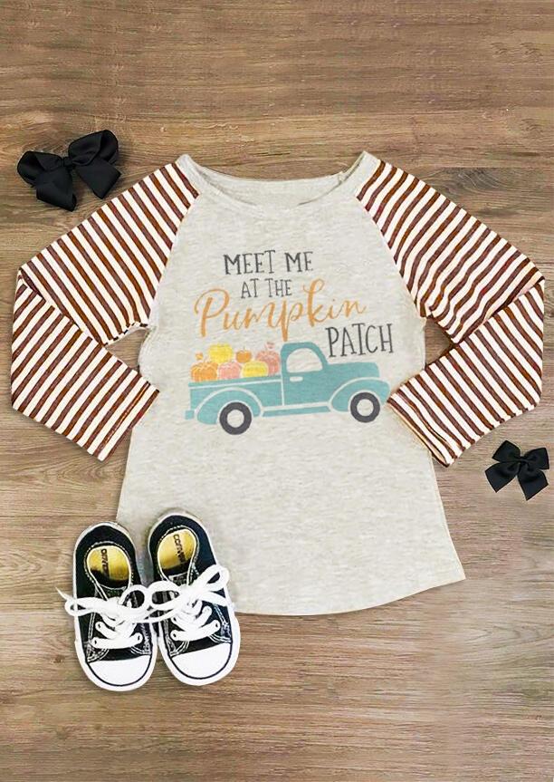 Mommy & Me Meet Me At The Pumpkin Patch Baseball T-Shirt Tee