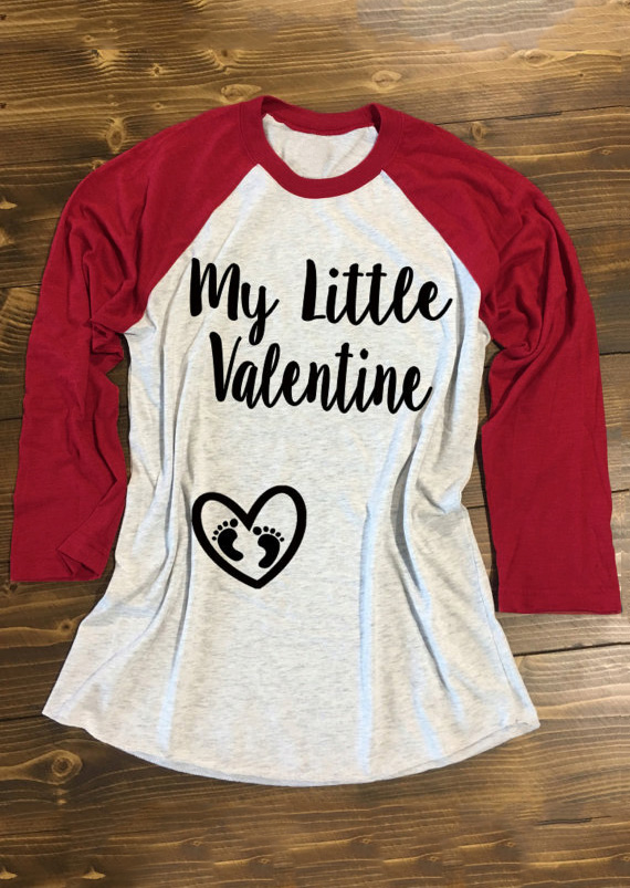 My Little Valentine & Heart Design Baseball T-Shirt Tee фото