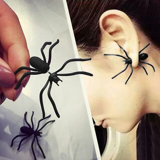 Halloween Creepy Spider Stud Earrings